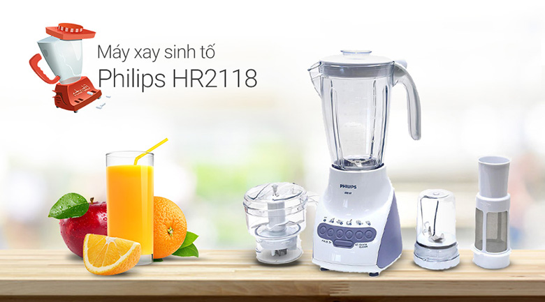 Image result for MÁY XAY SINH TỐ PHILIPS HR2118